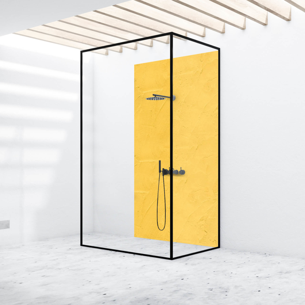 Duschrückwand - Struktur Gelb